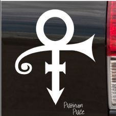 Prince Symbol-Car,Van,Door,Window,Sticker,Sign,ANKH,Music,Band,Punk,singing,Guitar,Roger,Nelson,Sing